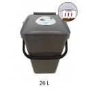 Biojäätmete ämber biofiltriga 26L pruun