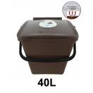 Biojäätmete ämber biofiltriga 40L pruun